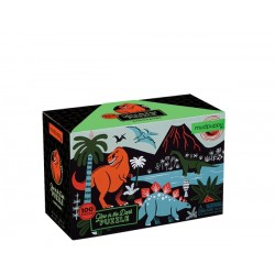 Glow in Dark Puzzle/Dinosaurs 100 pc