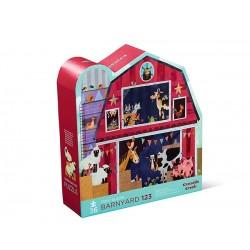 Puzzle Shaped Barnyard 123 36 pcs