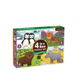 PUZZLE 4 in a Box/Animals of the World
