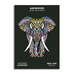 Puzle Aniwood Elefante M